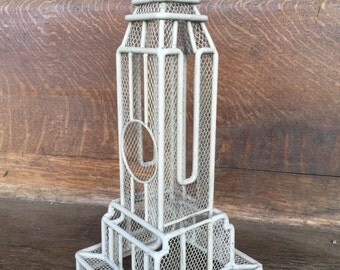 Wire Mesh Building Sculpture Tower or Earring Tree