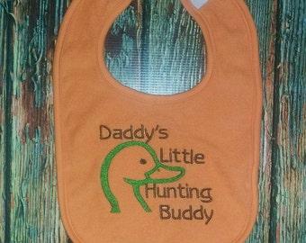 Daddys little Hunting Buddy bib, hunting bib, baby bib