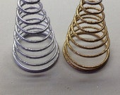 Gold or Silver Glitter Spring Coil Base - Christmas Tree Topper Base - Craft Ready - Hard to Find Item - Metal Coil Base For a X-Mas Topper