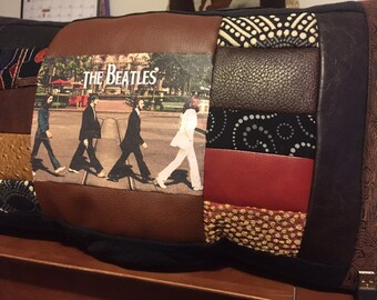 Beatles Pillow - Beatles Memorabilia - Abby Road - Patchwork Pillow