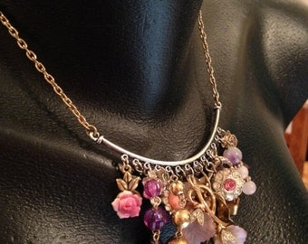 Antique and Vintage Assemblage Charm Necklace