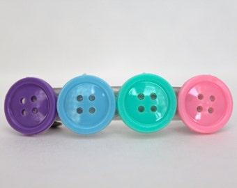 Pastel Button Hair Clip - Barrette