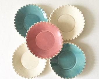 DAISIES set of 5 mini plates