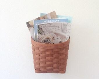 vintage woven Wall basket