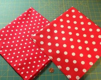 Table Linens, Red & White Polka Dots, Table Runner, Dinner Napkins, Christmas Napkins, Dinner Napkins, Valentines Day Table Runner