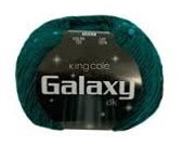 King Cole Galaxy DK Light Worsted Shade 722 Ocean Green