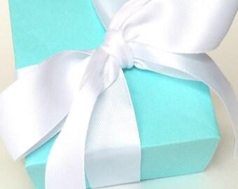 Aqua Party Favor Box (Set of 12), Wedding Favor Boxes, Candy Favor Boxes, Robins Egg Blue Boxes, Bridal Shower Favor Boxes,