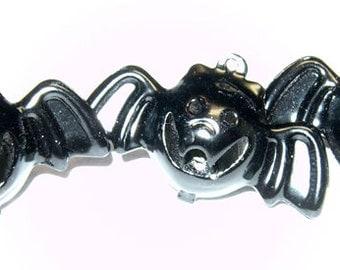 3 Jingle Ball BAT Charms Painted Enamel Halloween - Metal Charms - High Quality
