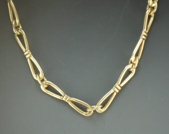 14k Yellow Gold Handmade Chain- One of a Kind