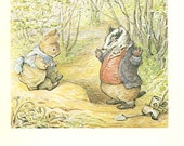 Beatrix Potter - MR.TOD Book Plate 14