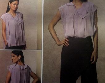PLEATED TOP Pattern • Vogue 1142 • Miss 6-12 • Issey Miyake • Overlay Pants • Sewing Patterns • Vogue Designer Patterns • WhiletheCatNaps