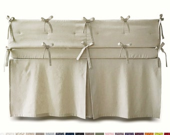 Crib bumper crib skirt kids fitted sheet Custom color soft linen crib bedding
