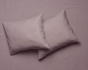 Purple linen bedding set, Linen sheet set Flat, fitted sheets & pillowcases. Linen bedding Queen Linen sheets King Twin Full Double