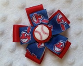 Cleveland Indians Baseball Bloom hair accessory alligator clip