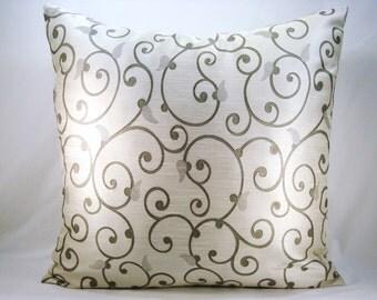Grey Euro Shams Grey Euro Squares Scroll Euro Shams Large Pillows 24x24