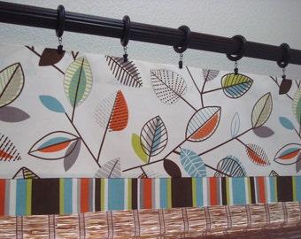 Covington Carson and Cameron Valance Kitchen Curtain Kitchen Valance Modern Valance Unlined  52x12  52x14  52x16  52x18