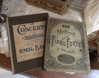 Antique Stunning Sheet Music Piano Books
