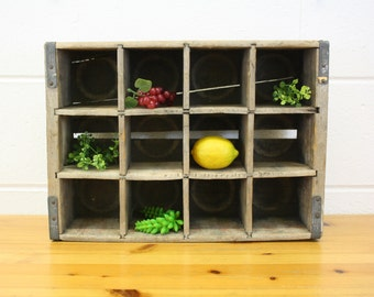Vintage Canada Dry Wood Bottle Crate (E7254)