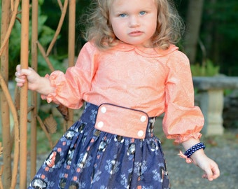Tenley Skirt and Blouse size 2 -10