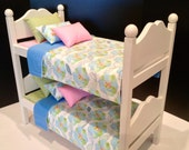 Blue Blossom Bunk Bed for the 18 in American Girl Doll