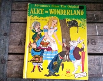 Use CODE50 for 50% OFF Vintage Alice in Wonderland, 1951, Wonder Book