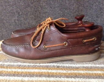 Vintage Sperry Top-Sider leather boat shoes USA 10.5