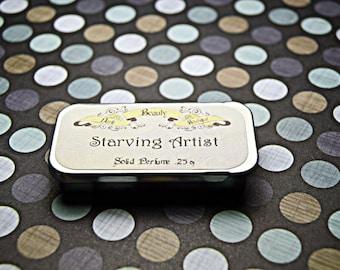 Solid Perfume - Starving Artist - Perfume Crème Tin - Amber, Rose Geranium, Blood Oranges, Cinnamon