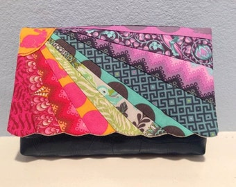 Gorgeous Sunburst Clutch bag PDF Sewing pattern with paper pieced flap