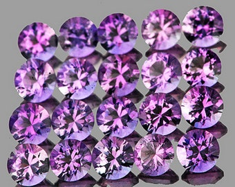 Medium Purple Amethyst Faceted Rounds 4 MM Natural Color, Precision Faceting, Priced Each