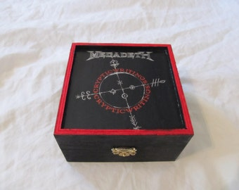 Megadeth Cryptic Writings Keepsake Thrash Metal Music Trinket Box