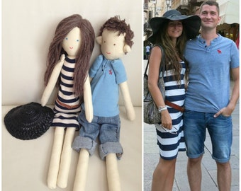 Handmade custom doll made by photo, Portrait cloth dolls, Personalized doll, Home decor doll, Look-alike fabric doll, Christmas gift