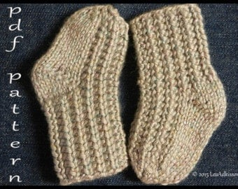 "Easy Knitted Baby Sock Pattern ""KIPPER"""