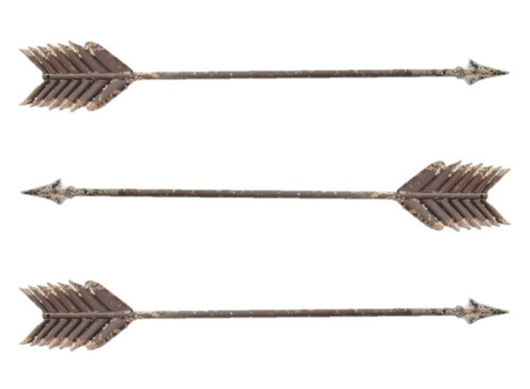 three metal arrows wall decor love wedding decor native american southwestern gallery - Southwestern Decor