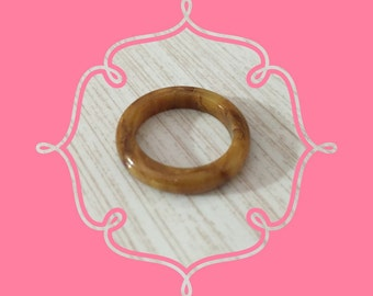 Mississippi Mud Never Worn Vintage Bakelite Band / Ring ~ Size 7  ~ Deadstock Bakelite At Hope Knows Vintage