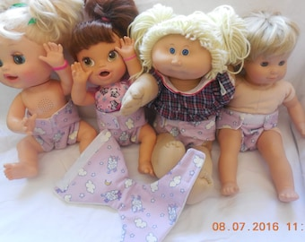 Ready to Ship #2 cloth Doll Diaper baby lamb adjusts washable fits bitty baby some baby alive all gone American Girl doll & stuffed animals