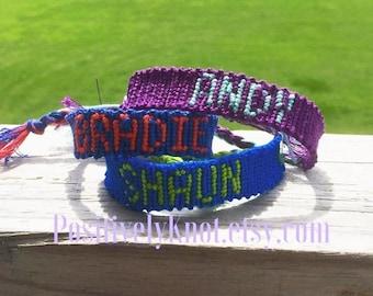 Custom Name Friendship Bracelet
