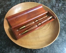 Hand-turned wood pen and pencil set