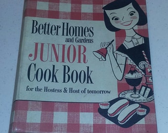 Better Homes Junior Cookbook scarce First Edition 50's 1955