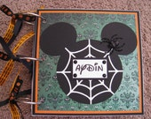 Disney Halloween Autograph Photo Book Mickey Mouse - Chipboard
