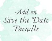 Save the Date Bundle Suite (Set of 25) | Add-on matching design