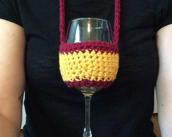 NFL Wine beverage insulator  / NFL snifter / Necklace Woozie / Harry Potter / Hogwarts / Chiefs / 49ers / Football