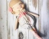 Afton ~ SpunCandy Classic Doll, Heirloom Quality Doll, Modern Rag Doll, Nursery Decor, Kids Decor, Fabric Doll, Cloth Doll, Handmade Doll