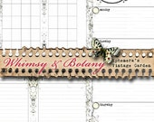 Whimsy & Botany Printable {Planner} Inserts - Undated
