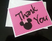 Minnie head Thank You Cards - 5 extra