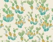 Succulence Everlasting Cacti in Terrain Metallic, Bonnie Christine, Art Gallery Fabrics, 100% Premium Cotton Fabric, SCC-98606