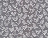 First Light Flock in Gray, Eloise Renouf, 100% GOTS-Certified Organic Cotton, Cloud9 Fabrics, 134050