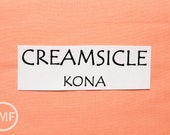 One Yard Creamsicle Kona Cotton Solid Fabric from Robert Kaufman, K001-185