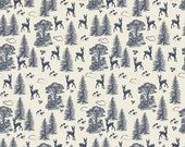 Woodland Spring Friends in Navy, Design by Dani, Dani Mogstad, Riley Blake Designs, 100% Cotton Fabric, C4991-NAVY