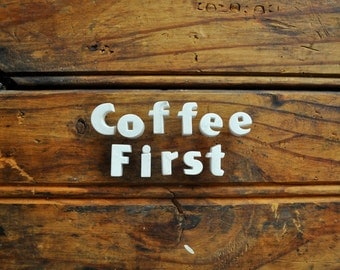COFFEE FIRST - Vintage Ceramic Push Pins