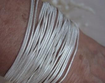 Over Twenty Five 1mm Silver Snake Chain Liquid Silver Chain Bracelet